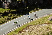 Rob , Scott, Reuben , John riding bikes for Cplus bike test . Near Treorchy , Rhondda , Wales.  May 2015.
