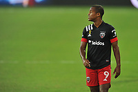 WASHINGTON, DC - SEPTEMBER 12: Ola Kamara #9 of D.C. United during a game between New York Red Bulls and D.C. United at Audi Field on September 12, 2020 in Washington, DC.