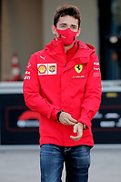12th November 2020; Istanbul Park, Istanbul, Turkey;  FIA Formula One World Championship 2020, Grand Prix of Turkey, 16 Charles Leclerc MCO, Scuderia Ferrari Mission Winnow arrives at track