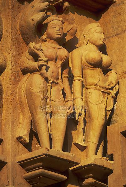 sculptured figures, Kandariya Mahadeva, Khajuraho, Madhya Pradesh, India