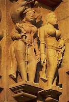 sculptured figures, Kandariya Mahadeva, Khajuraho, Madhya Pradesh, India