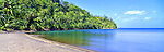Caribbean Panorama - Beach in Dominica Image taken on large format panoramic 6cm x 17cm transparency. Available for licencing and printing. email us at contact@widescenes.com for pricing. <br /> <br /> WARNING: Image Protected with PIXSY
