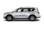 Car driver side profile view of a 2018 Nissan Armada SV 5 Door SUV