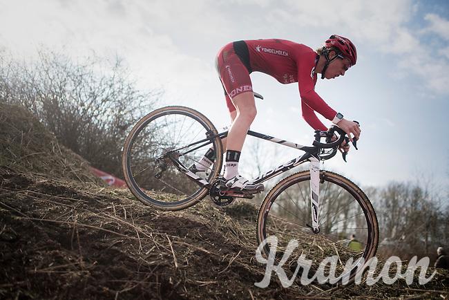Joyce Vanderbeken (Donen Vondelmolen)<br /> <br /> women's race<br /> CX Soudal Classics Leuven/Belgium 2017