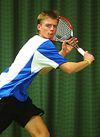10-3-06, Netherlands, tennis, Rotterdam, National indoor junior tennis championchips, Arjan Pastoors