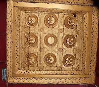 Myanmar, Burma, Shwezegon (Shwezigon) Pagoda, near Bagan.  Ceiling Decoration.