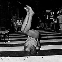 Brenda does an erotic dance in The Mexican Sports Bar, Hillbrow.