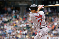 July 23, 2008:  The Boston Red Sox's J.D. Drew at-bat during a game against the Seattle Mariners at Safeco Field in Seattle, Washington.