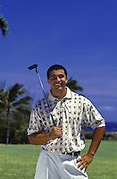 Playing golf at Koko Head golf course, Oahu, Hawaii