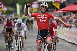 Jasper Stuyven (BEL) Trek-Segafredo wins the Grand Prix de Wallonie 2018 running 205.9km from Blegny to Citadelle de Namur, Belgium. 11th September 2018. <br /> Picture: Peter De Voecht/BettiniPhoto | Cyclefile<br /> <br /> <br /> All photos usage must carry mandatory copyright credit (© Cyclefile | Peter De Voecht/BettiniPhoto)
