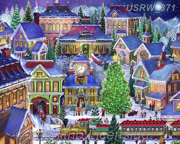 Randy, CHRISTMAS LANDSCAPES, WEIHNACHTEN WINTERLANDSCHAFTEN, NAVIDAD PAISAJES DE INVIERNO, paintings+++++,USRW371,#xl#