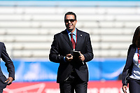 Cary, NC - Sunday October 22, 2017: Hicham El Bariqi prior to an International friendly match between the Women's National teams of the United States (USA) and South Korea (KOR) at Sahlen's Stadium at WakeMed Soccer Park. The U.S. won the game 6-0.