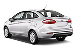Car pictures of rear three quarter view of 2017 Ford Fiesta SE 4 Door Sedan Angular Rear