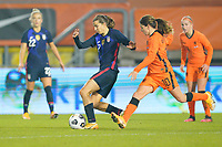 BREDA, NETHERLANDS - NOVEMBER 27: Tobin Heath #17 of the United States moves with the ball during a game between Netherlands and USWNT at Rat Verlegh Stadion on November 27, 2020 in Breda, Netherlands.