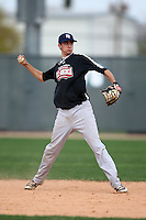 January 17, 2010:  Tyler Sturgill (Clovis, CA) of the Baseball Factory Northwest Team during the 2010 Under Armour Pre-Season All-America Tournament at Kino Sports Complex in Tucson, AZ.  Photo By Mike Janes/Four Seam Images