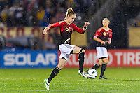 Simone Laudehr (6) of Germany (GER). The United States (USA) and Germany (GER) played to a 2-2 tie during an international friendly at Rentschler Field in East Hartford, CT, on October 23, 2012.