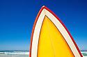 Surf board at beach