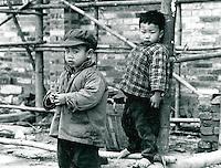 Kinder in Shaoshan in der Provinz Hunan, China 1976