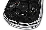 Car Stock 2019 BMW 5-Series 530I-Sport-Line 4 Door Sedan Engine  high angle detail view