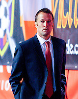 Jason Kreis, Head Coach of Real Salt Lake in the DC United @ Real Salt Lake 0-4 Real Salt Lake victory at Rice-Eccles Stadium in Salt Lake City, Utah on April 12, 2008