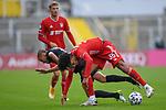 v.li.: Adam Hlousek (Kaiserslautern, 14) Joshua Zirkzee (Bayern München, FCB, 35) im Zweikampf, Duell, duel, tackle, Dynamik, Action, Aktion beim Spiel in der 3. Liga, FC Bayern München II -1. FC Kaiserslautern.<br /> <br /> Foto © PIX-Sportfotos *** Foto ist honorarpflichtig! *** Auf Anfrage in hoeherer Qualitaet/Aufloesung. Belegexemplar erbeten. Veroeffentlichung ausschliesslich fuer journalistisch-publizistische Zwecke. For editorial use only. DFL regulations prohibit any use of photographs as image sequences and/or quasi-video.