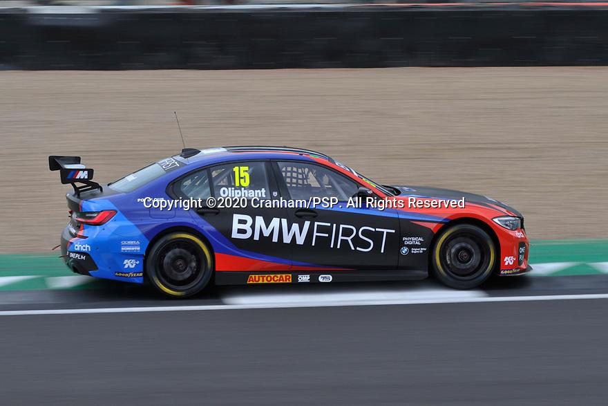 2020 British Touring Car Championship Media day. #15 Tom Oliphant. Team BMW. BMW 330i M Sport.