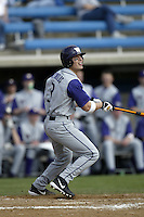 Tila Reynolds of the Washington Huskies bats during a game against the Pepperdine Waves at Eddy D. Field Stadium on February 7, 2003 in Malibu, California. (Larry Goren/Four Seam Images)