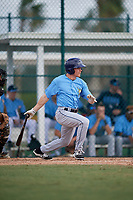 Tampa Bay Rays center fielder Michael Smith (51) follows through on a swing during an Instructional League game against the Pittsburgh Pirates on October 3, 2017 at Pirate City in Bradenton, Florida.  (Mike Janes/Four Seam Images)