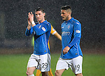 St Johnstone v Motherwell....31.10.14   SPFL<br /> Michael O'Halloran applauds the fans up at full time<br /> Picture by Graeme Hart.<br /> Copyright Perthshire Picture Agency<br /> Tel: 01738 623350  Mobile: 07990 594431