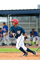 Adrian Sanchez of the Gulf Coast League Nationals during the game against the Gulf Coast League Mets June 27 2010 at the Washington Nationals complex in Viera, Florida.  Photo By Scott Jontes/Four Seam Images