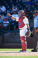 Surprise Saguaros Jose Trevino (13), of the Texas Rangers organization, during a game against the Salt River Rafters on October 17, 2016 at Surprise Stadium in Surprise, Arizona.  Surprise defeated Salt River 3-1.  (Mike Janes/Four Seam Images)