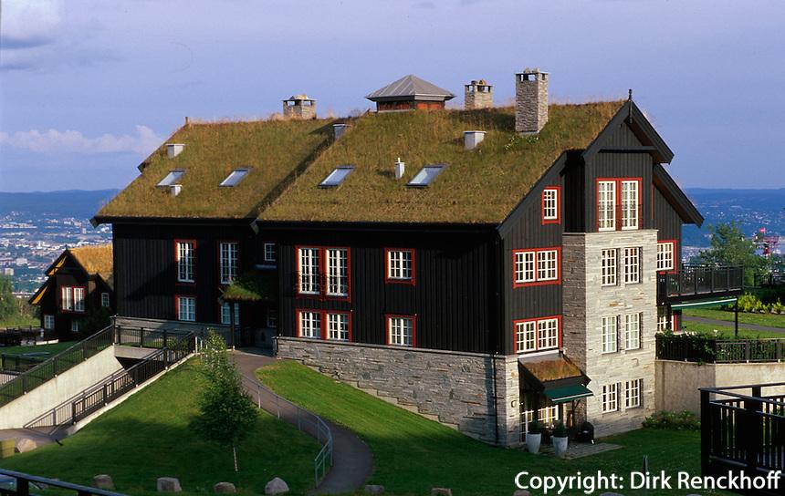 Norwegen, Oslo, Ferienhäuser auf dem Holmenkollen
