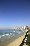 Israel, Tel Aviv-Yafo, a view of Tel Aviv as seen from Jaffa