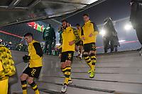 20.12.2017, Football DFB-Pokal 2017, ,  FC Bayern Muenchen - Borussia Dortmund, in Allianz-Arena Muenchen. Dortmunder kommen die Treppe herunter, v.li: Christian Pulisisc (Dortmund), OEmer Toprak (Dortmund), Julian Weigl (Dortmund). *** Local Caption *** © pixathlon<br /> <br /> +++ NED + SUI out !!! +++<br /> Contact: +49-40-22 63 02 60 , info@pixathlon.de