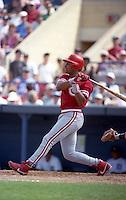 Cincinnati Reds Barry Larkin (11) during Spring Training 1993 at Joker Marchant Stadium in Lakeland, Florida.  (MJA/Four Seam Images)