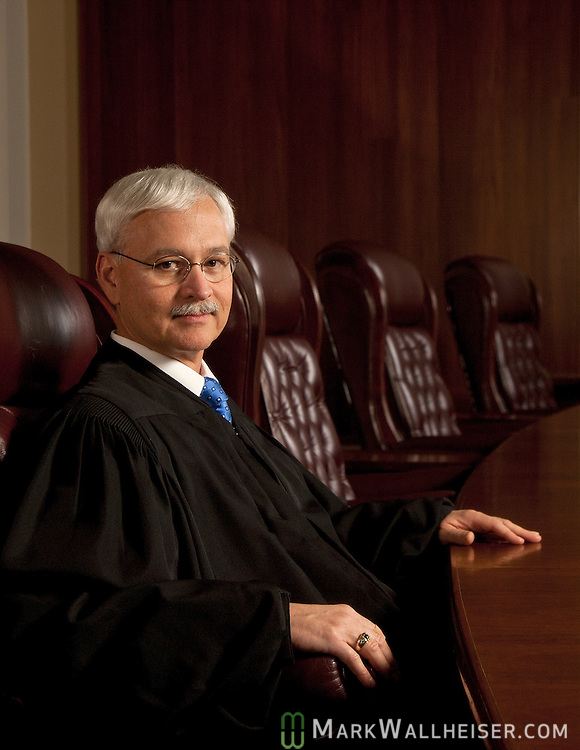 Incoming Florida Supreme Court Chief Justice Ricky Polston on the bench inTallahassee, Florida June 25, 2012.