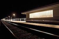 Surf beach train station at night