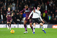 Leroy Fer of Swansea City vies for possession with Mason Mount of Derby County during the Sky Bet Championship match between Derby City and Swansea City at the Pride Park Stadium in Derby, England, UK. Saturday 01 December 2018