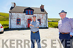 Johnny Golden & Fr Patsy Lynch at the homestead of Julia O'Shea in Lomanagh, Portmagee.