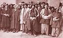 Iran 1880 A Tikantape,personnalités kurdes  de gauche a droite,  au premier rang, Keikhosrew Beg, Salim Beg, Ali Beg, Feizullah Beg, en retrait, Reshid Beg et Aziz Beg Nobehar<br /> Iran 1880 Chiefs of the Kurdish revolution in Tikantape, 1 st line from left to right, Keikhosrew Beg, Salim Beg, Ali Beg, Feizullah Beg, just behind, Reshid Beg, and Aziz Beg Nobehar