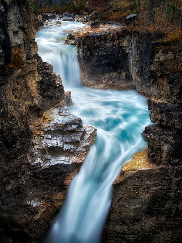 Tokumm Creek Falls, Marble Canyon. Kooteny National Park, Canada