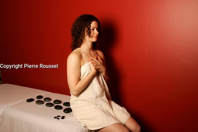 File Photo - Model Released - Back pain massage