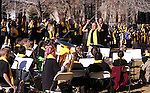 "Director Warren Krch and the Learning Bridge Charter School band, of Ely, performs for several hundred people at the ""Nevada Supports School Choice"" rally to raise awareness of educational choices on the Capitol grounds in Carson City, Nev., on Wednesday, Jan. 28, 2015. <br /> Photo by Cathleen Allison"