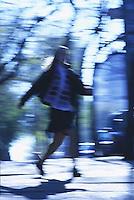 Schoolgirl walking<br />