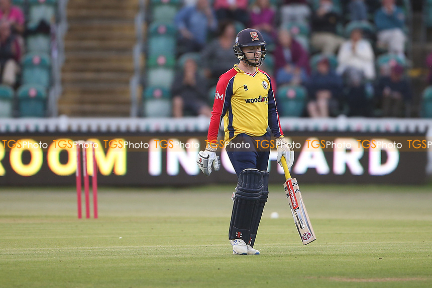 Adam Wheater of Essex leaves the field having been dismissed for 2 during Somerset vs Essex Eagles, Vitality Blast T20 Cricket at The Cooper Associates County Ground on 9th June 2021
