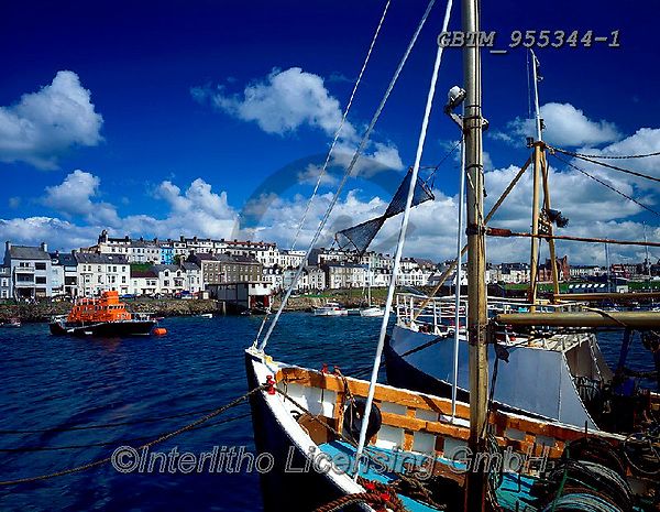Tom Mackie, LANDSCAPES, LANDSCHAFTEN, PAISAJES, FOTO, photos,+4x5, 5x4, boat, boats, Britain, clouds, coast, coastal, coastline, Eire, EU, Europa, Europe, European, fishing, fishing boat,+float, floating, floats, Great Britain, harbor, harbour, horizontal, horizontally, horizontals, Ireland, Irish, large format+lifeboat, Northern Ireland, port, UK, United Kingdom, water, water craft,4x5, 5x4, boat, boats, Britain, clouds, coast, coas+tal, coastline, Eire, EU, Europa, Europe, European, fishing, fishing boat, float, floating, floats, Great Britain, harbor, h+,GBTM955344-1,#L#, EVERYDAY ,Ireland