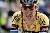 Jordi Van Dingenen's (BEL/Tarteletto - Isorex) post-race face<br /> <br /> Dwars door het Hageland 2019 (1.1)<br /> 1 day race from Aarschot to Diest (BEL/204km)<br /> <br /> ©kramon