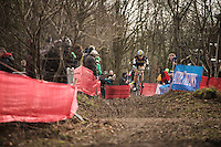 Ellen Van Loy (BEL/Telenet-Fidea) leading in the early part of the race<br /> <br /> Soudal Classic Leuven 2016