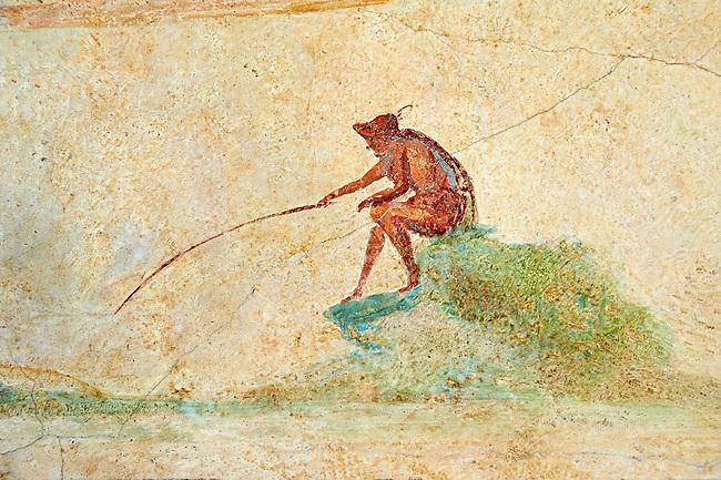 Roman fresco wall decorations of the Triclinium C, Villa Farnesia, Rome. Museo Nazionale Romano ( National Roman Museum), Rome, Italy.