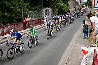 Green Jersey / points leader Mark Cavendish (GBR/Deceuninck - Quick Step) rolling through Noyers sur Cher<br /> <br /> Stage 6 from Tours to Châteauroux (160km)<br /> 108th Tour de France 2021 (2.UWT)<br /> <br /> ©kramon